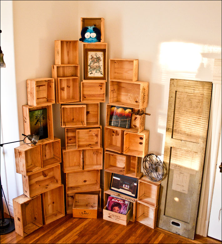 Passionfly Wine Crate Bookshelf