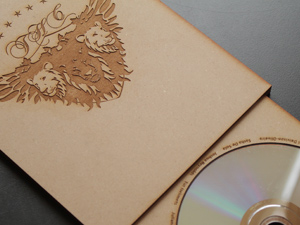Laser cut DVD case