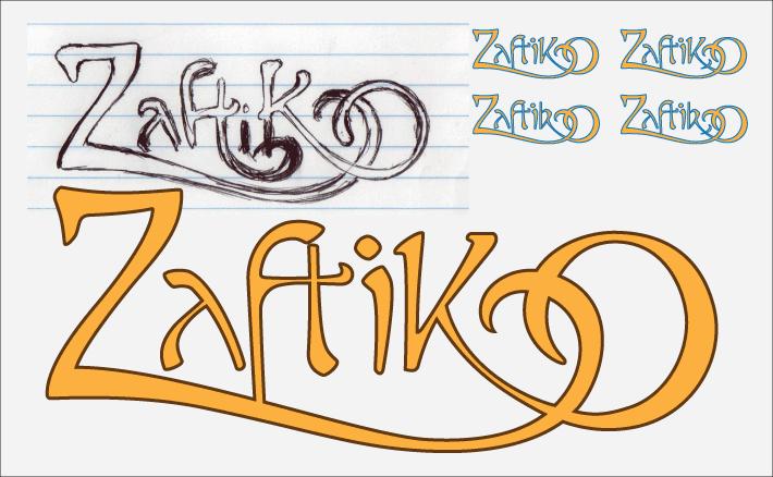Zaftik sketches (Art Nouveau)